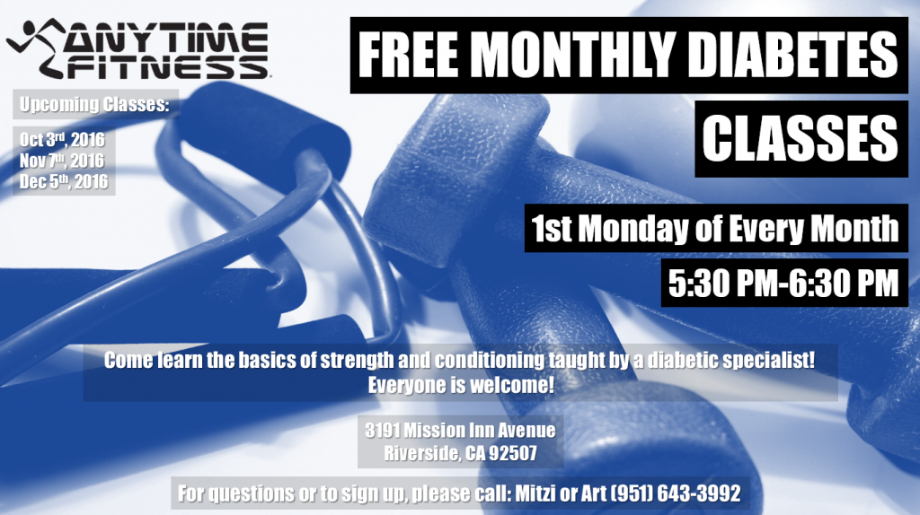 Free Monthly Diabetes Class
