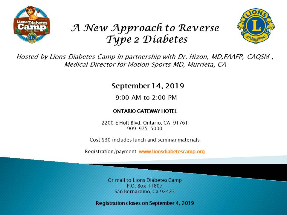 A New Approach to Reverse Type 2 Diabetes Seminar
